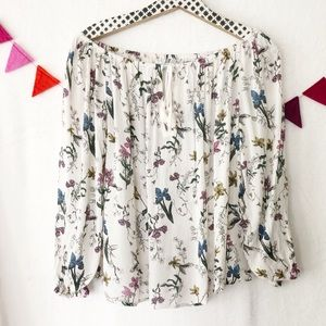 {UO Kimchi Blue} Oversized Floral, Flowy Top